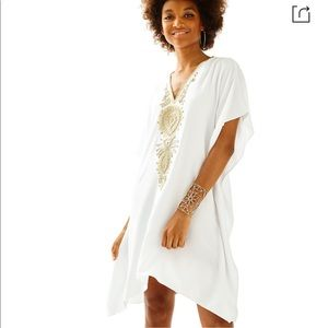 Lilly Pulitzer Chai Caftan Dress in Resort White